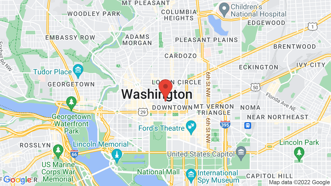 Map showing event location