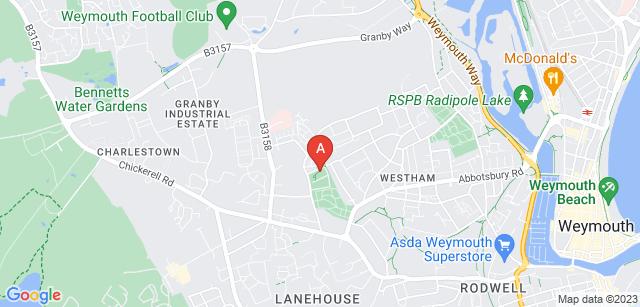 Google static map for Weymouth Crematorium