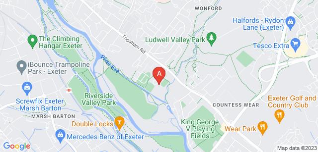 Google static map for Exeter and Devon Crematorium
