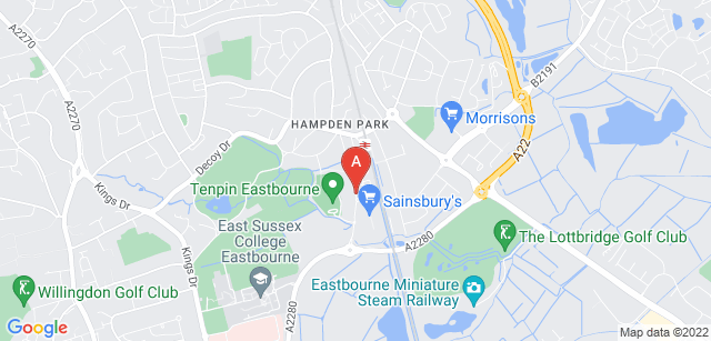 Google static map for St Wilfrid's Hospice