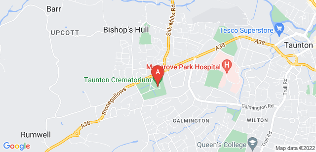 Google static map for Taunton Deane Crematorium