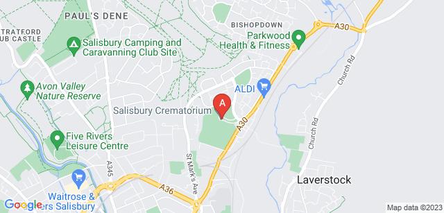 Google static map for Salisbury Crematorium