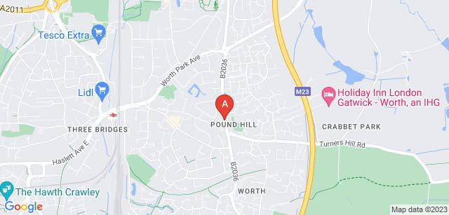 Google static map for Surrey and Sussex Crematorium