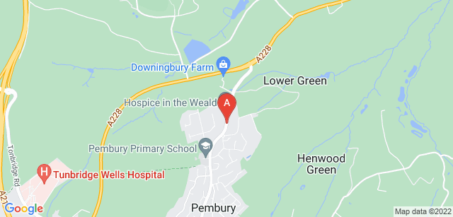 Google static map for Hospice in the Weald