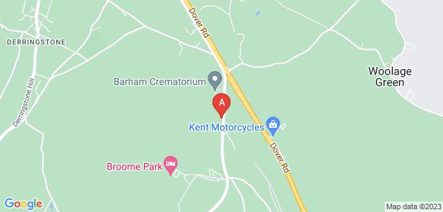 Google static map for Barham Crematorium