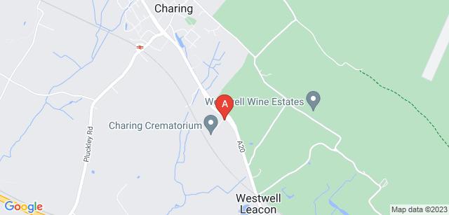 Google static map for Charing Crematorium