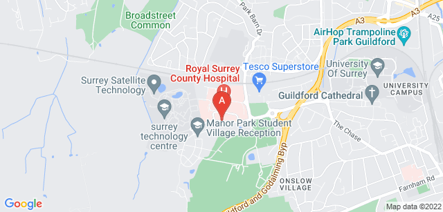 Google static map for Phyllis Tuckwell Hospice Care (at the Beacon Centre)