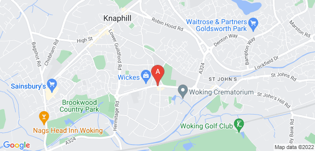 Google static map for Woking Crematorium