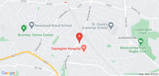 Google static map for St Christopher's Bromley