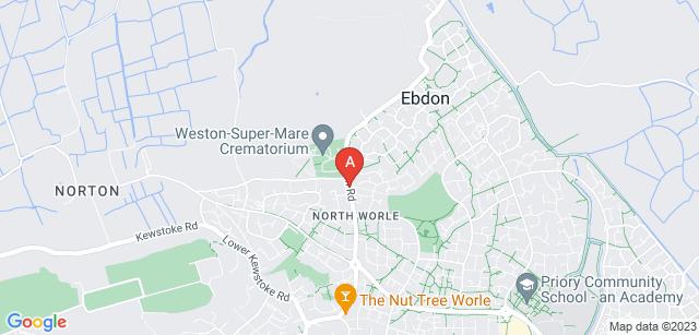 Google static map for Weston Super Mare Crematorium