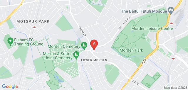 Google static map for North East Surrey Crematorium