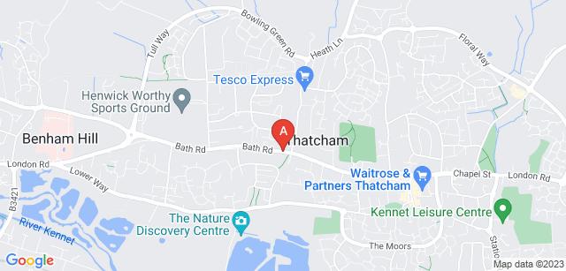 Google static map for West Berkshire Crematorium