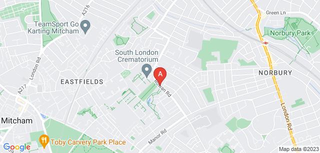Google static map for South London Crematorium