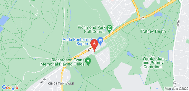 Google static map for Putney Vale Cemetery and Crematorium