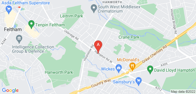 Google static map for South West Middlesex Crematorium