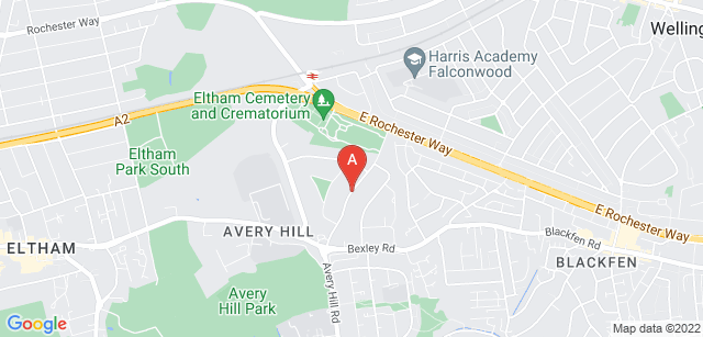 Google static map for Eltham Crematorium