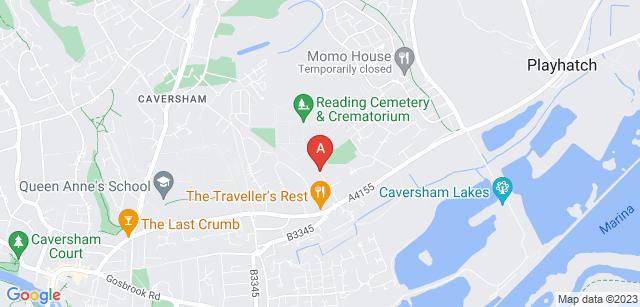 Google static map for Reading Crematorium