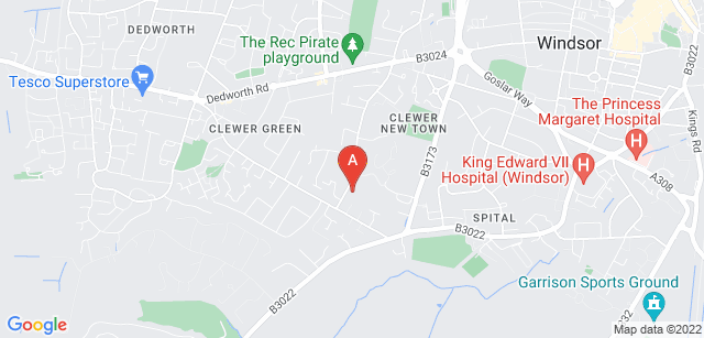 Google static map for Thames Hospice