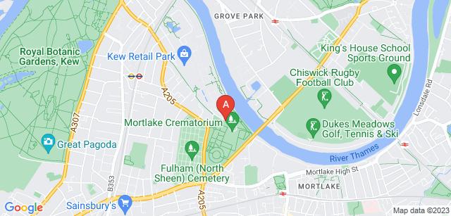 Google static map for Mortlake Crematorium