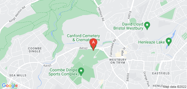 Google static map for Canford Cemetery and Crematorium