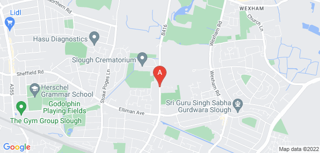 Google static map for Slough Cemetery  and Crematorium