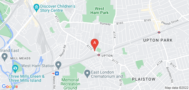 Google static map for East London Crematorium