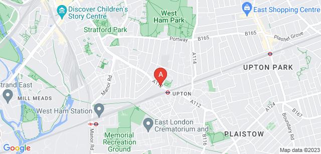 Google static map for East London Crematorium