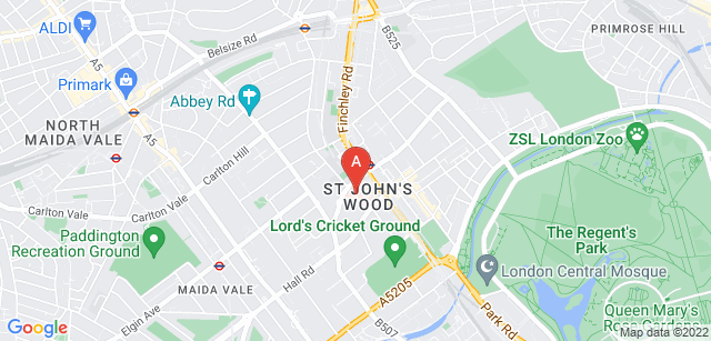 Google static map for St John's Hospice