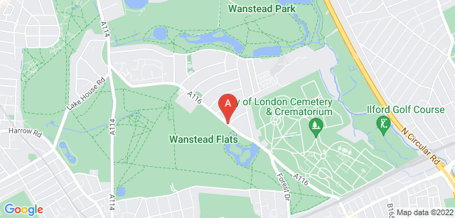 Google static map for City of London Cemetery  and Crematorium