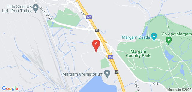 Google static map for Margam Crematorium