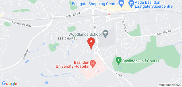 Google static map for St Luke's Hospice