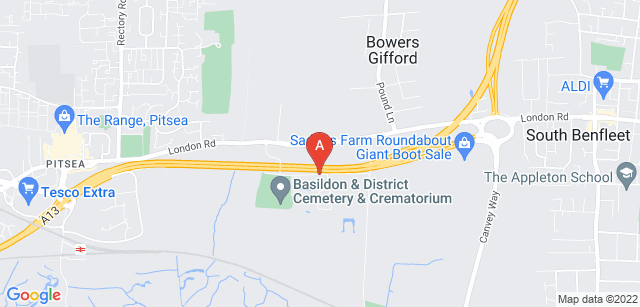 Google static map for Basildon and District Crematorium