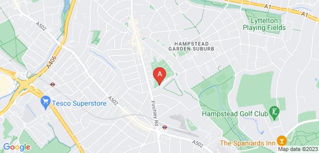 Google static map for Golders Green Crematorium