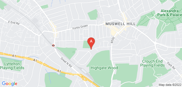 Google static map for North London Hospice