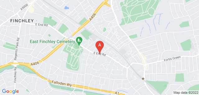Google static map for St Marylebone Crematorium