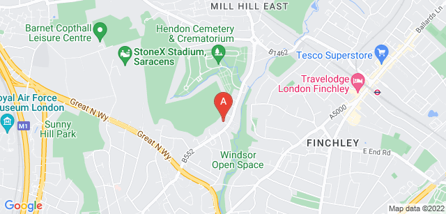 Google static map for Hendon Cemetery and Crematorium