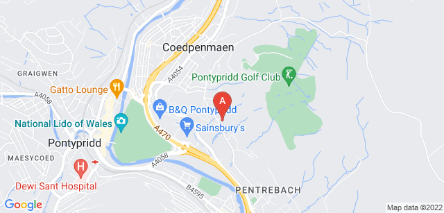Google static map for Y Bwthyn