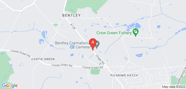 Google static map for Bentley Crematorium and Cemetery