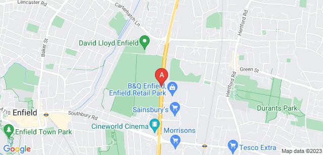 Google static map for Enfield Crematorium