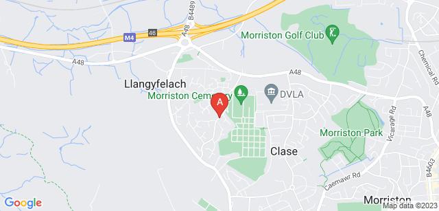 Google static map for Swansea Crematorium