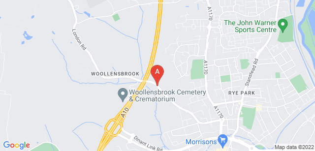 Google static map for Woollensbrook Cemetery and Crematorium