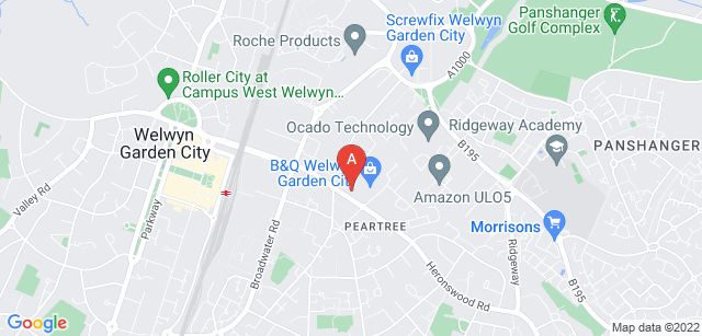 Google static map for Isabel Hospice