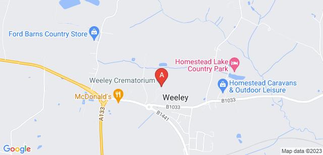Google static map for Weeley Crematorium