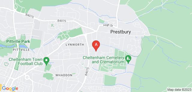 Google static map for Cheltenham Crematorium
