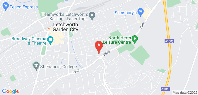 Google static map for Garden House Hospice