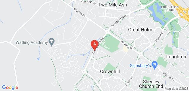 Google static map for Crownhill Crematorium