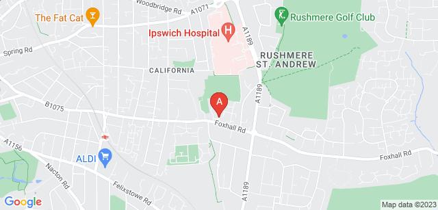 Google static map for St Elizabeth Hospice