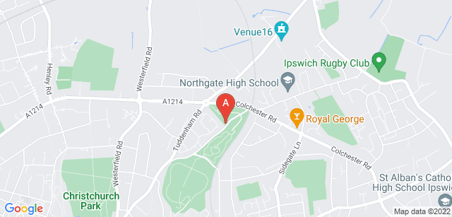 Google static map for Ipswich Crematorium