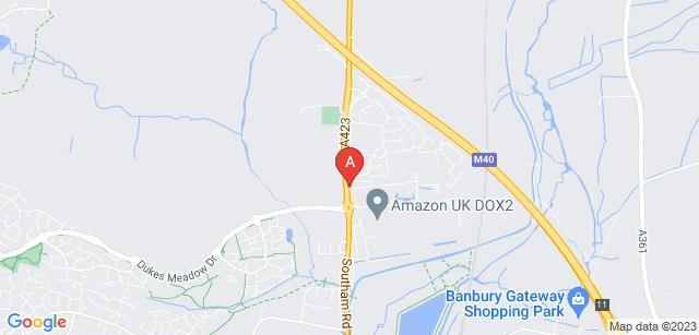 Google static map for Banbury Crematorium