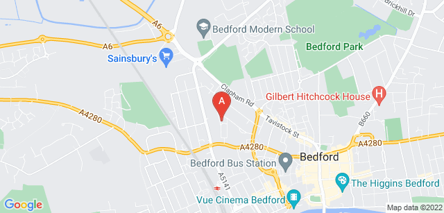 Google static map for Bedford Daycare Hospice